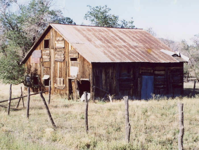 5. This old horse barn looks like it's seen better days but it is still standing strong and has character.