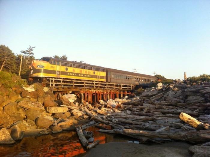 11. Ride a Dinner Train on the Oregon Coast Scenic Railroad...