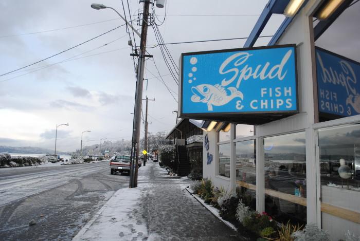 1. Spud Fish & Chips: Seattle (Alki & Greenlake), Kirkland, Edmonds