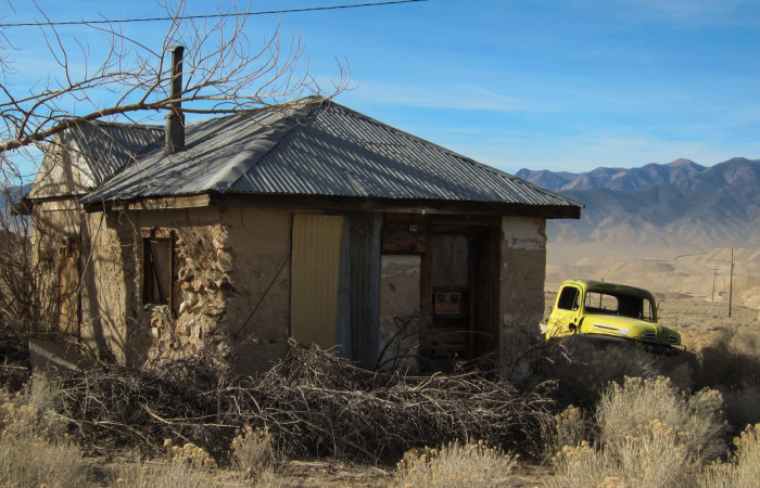 9. This house is an example of what's left of the former town of Round Mountain.