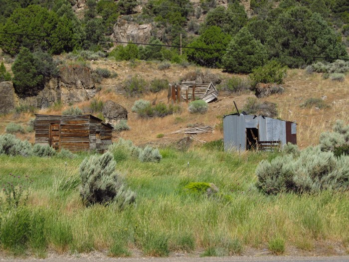 14. A group of mining cabins in ruin - Eureka, Nevada.