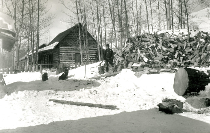 20. A snowy, winter cabin to come home to after a long day's work, 1915