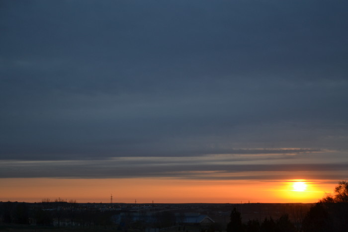 9. Cloudy morning over Bismarck