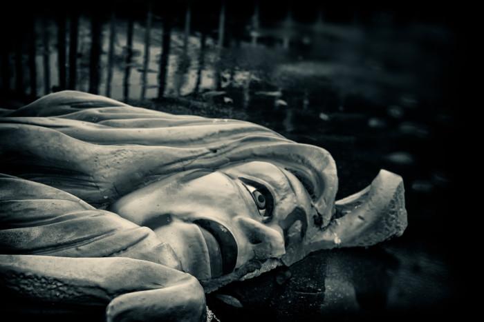 Fallen goddess in the water…