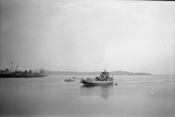 7. The new ferry pulling into Lermond Cove, Rockland after a trip from Vinalhaven.