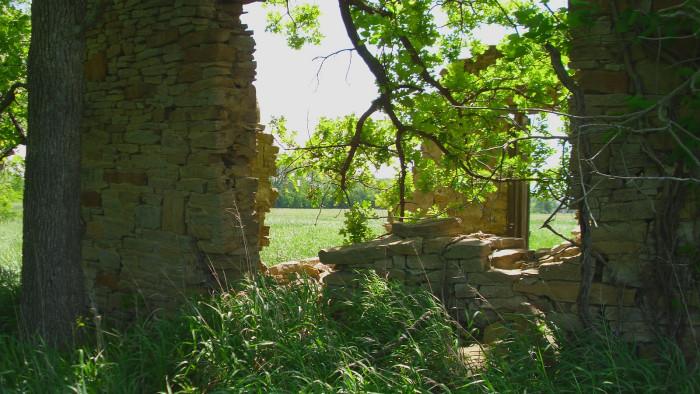 8. An old stone house near Eureka.