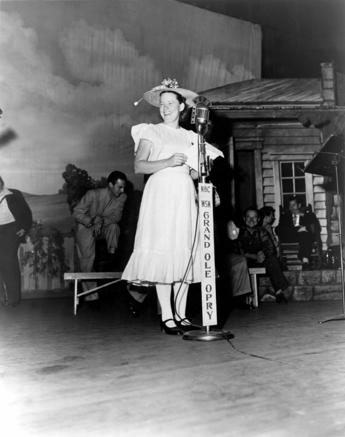 7) Minnie Pearl making waves at the Grand Ole Opry