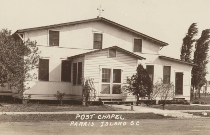7. The Parris Island Post Chapel in 1943.