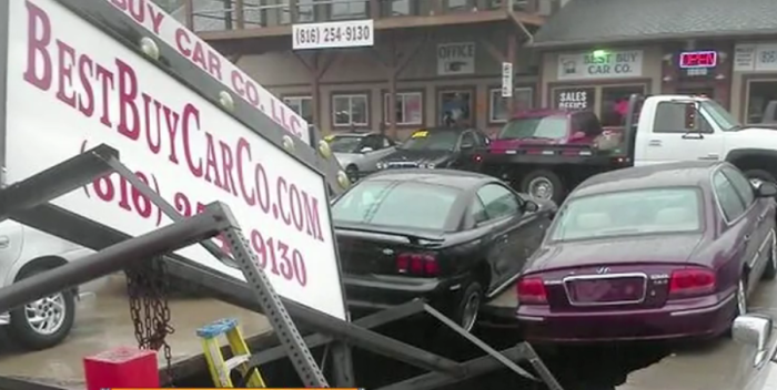 6.Trouble for a car dealership in Sugar Creek