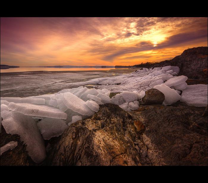 16.  Ice Flow Sunset