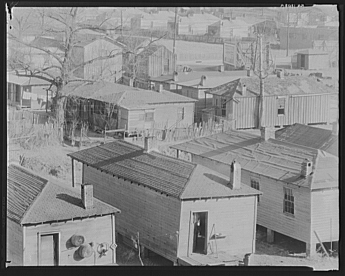 7. During the 1930s, housing quarters, such as these in Vicksburg, were standard accommodations for many African-Americans.