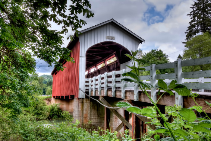 9. See the covered bridges of Cottage Grove.
