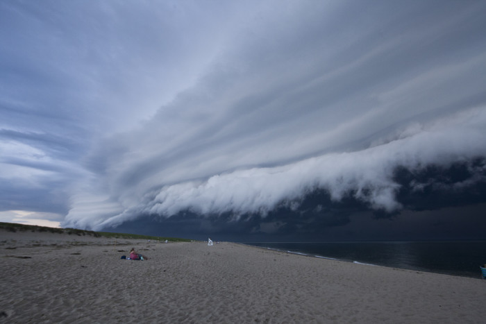 2. A shelf cloud looms over Race Point in Provincetown.