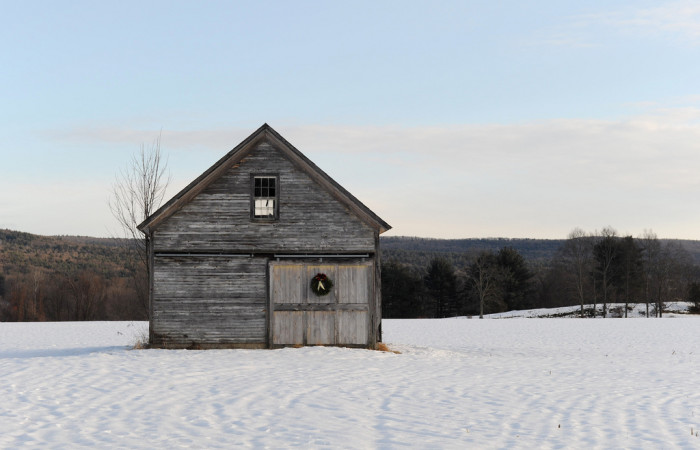 9. This barn in Gill has a quiet and humble beauty.