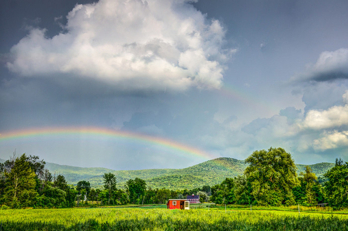 """13.  The """"somewhere over the rainbow"""" here is in Waterbury."""
