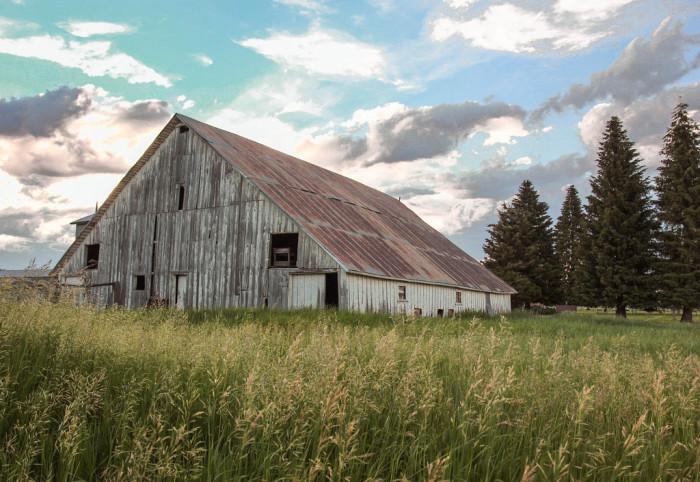 Old barn in Lake Fork, Idaho