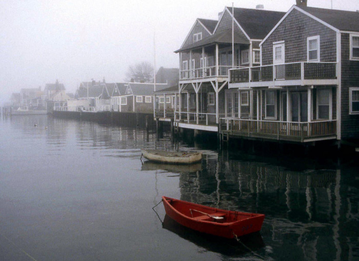7. Easy Street on Nantucket on a quiet foggy afternoon.