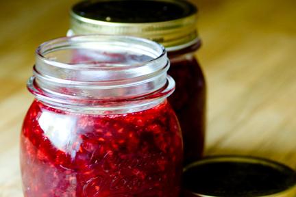 8. A jar of homemade jam.