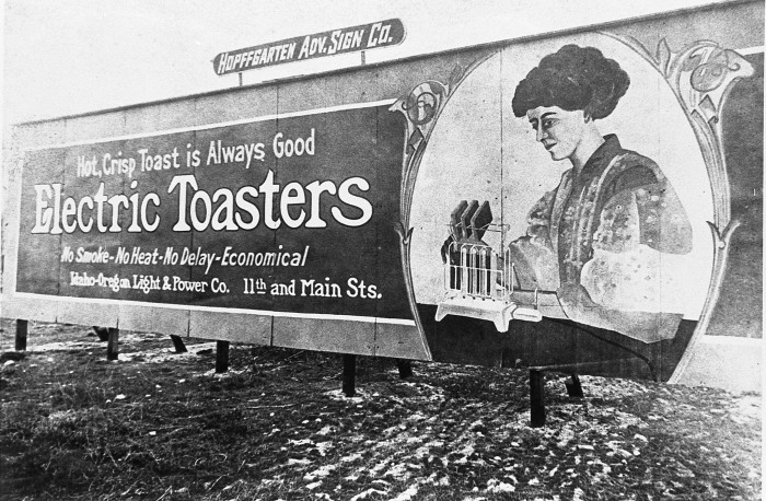 11. Urban advertising in 1910 was much more practical.