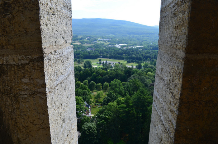4.  A view from the top in Bennington