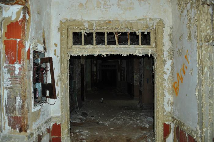 This dark, gloomy hallway is almost sinister.
