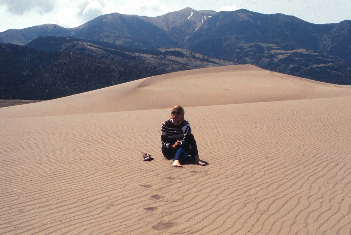 "5. ""Colorado - Great Sand Dunes - Barbara - 28 May 1972."""