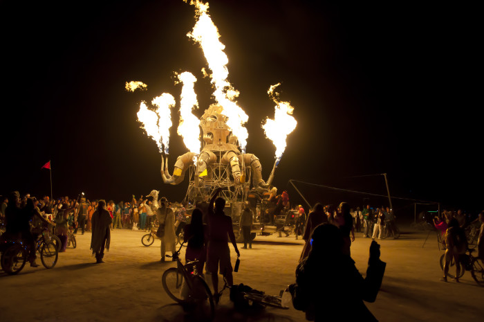 12. When they want to have a good time, they find places to go other than Las Vegas, such as spending the week at Burning Man.