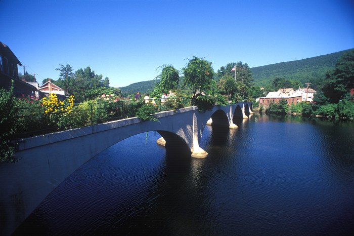 4. Bridge of Flowers, Mohawk Trail, Shelburne Falls. This bridge is laden with gorgeous blooming flowers and fragrant blossoms.