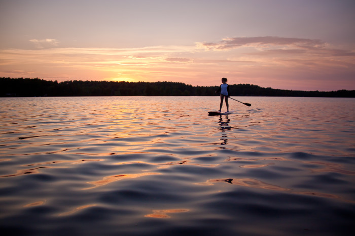16. Ending the day with one last SUP on your favorite lake. This one is Lake Cobbosseecontee.