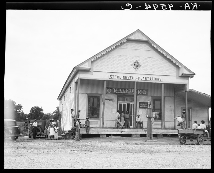 8. Farmers often shopped for supplies at plantation stores, just like this one in Clarksdale. Many times, farmers would purchase items with credit and repay their debt with the crops they yielded.