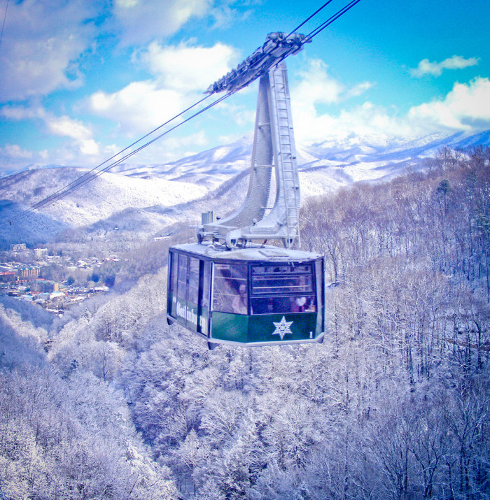 8) Gatlinburg looks real nice from the ever chilly winter sky