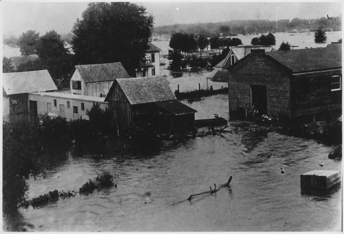 8.Flooded community.