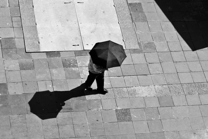 5. Umbrellas are for more than keeping the rain off your head: open one up on a sunny day for instant shade.