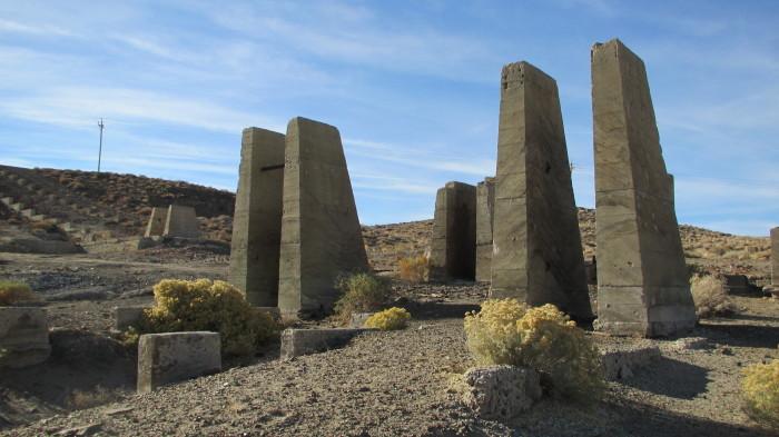 7. Mill ruins in Lyon County, Nevada.