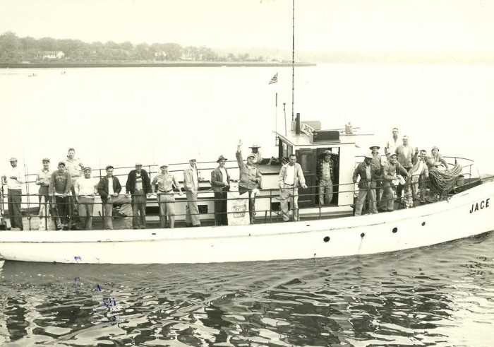 3. Off the coast of Manasquan in 1950.