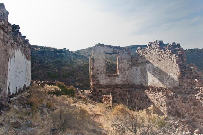 11. Ruins in downtown Delamar, Nevada.