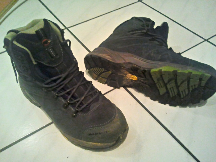 2. Hiking boots.