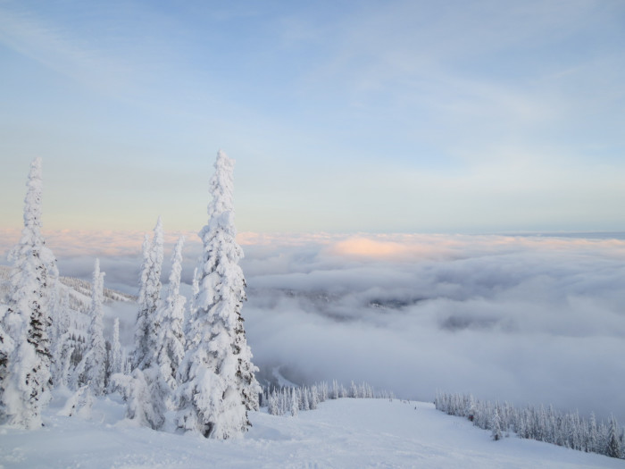 10. Schweitzer Mountain from above the clouds is simply unreal.
