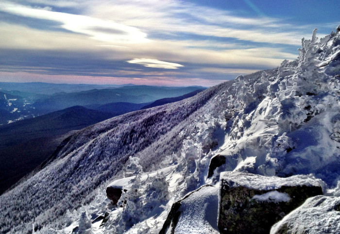 1. A chilly sunset on Cannon Mountain.