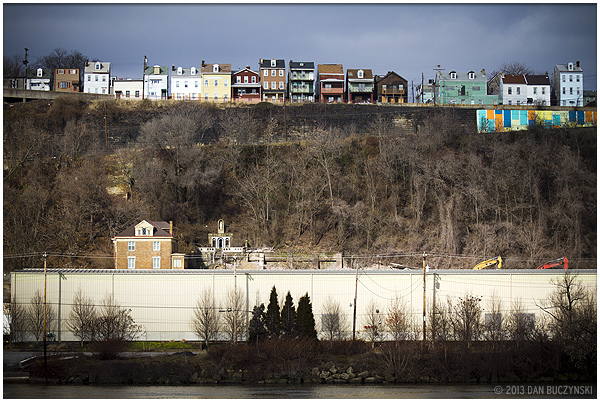 9. The houses in Troy Hill, Pittsburgh, create a whimsical skyline.