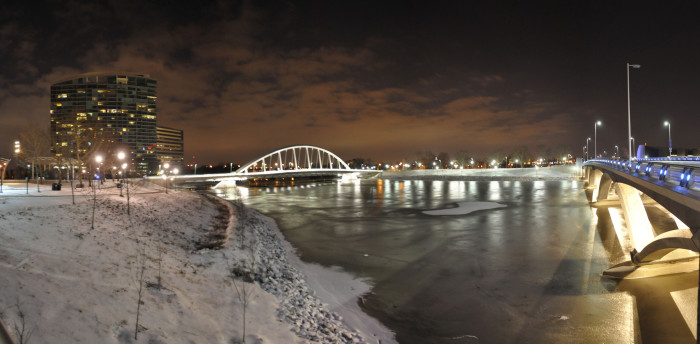 14. Columbus on a winter night