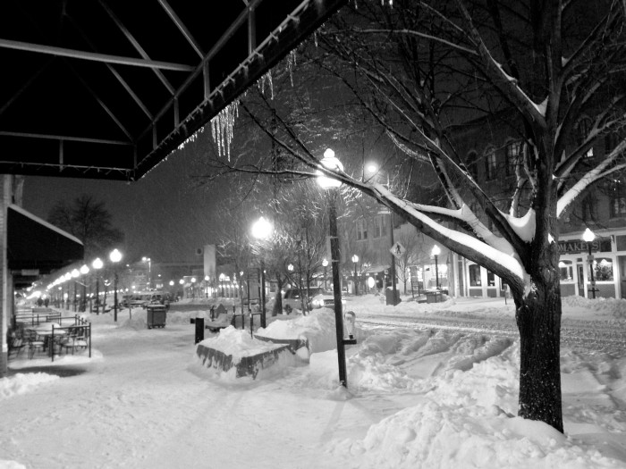 9. Even blanketed in snow, downtown Lawrence looks beautiful...