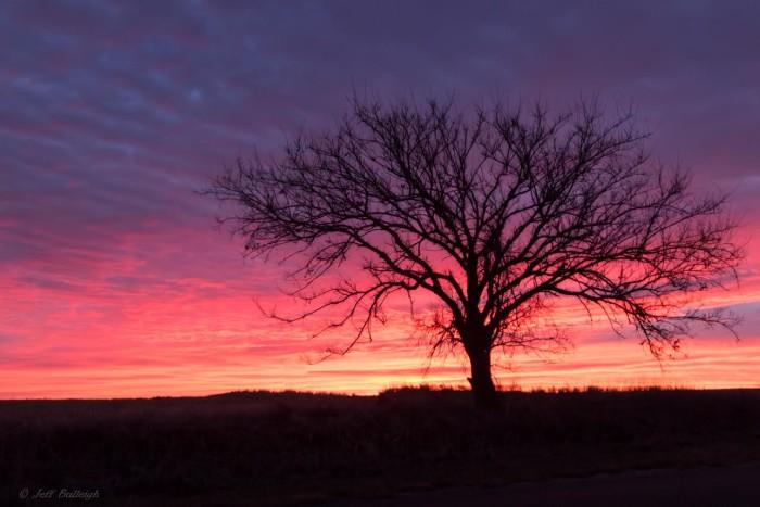 1. A colorful sunrise north of Miltonvale