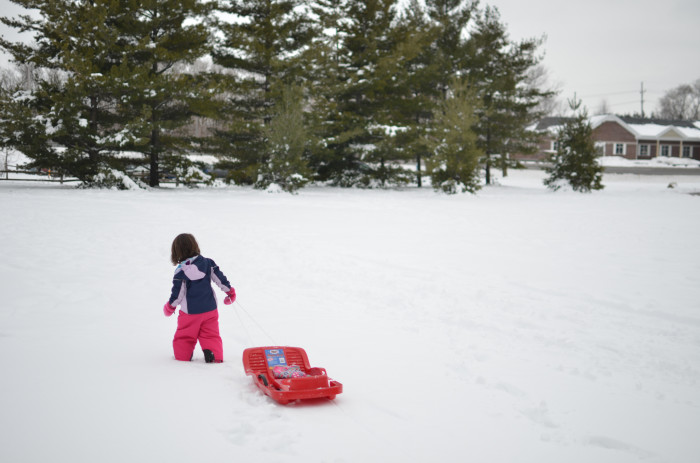 6. Commence the snow day activities! Sledding, snowmen, snow angels. I love it!