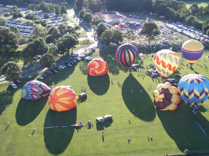4. I wonder if this shot of the annual Balloon Festival in Greenfield was taken from a hot air balloon!