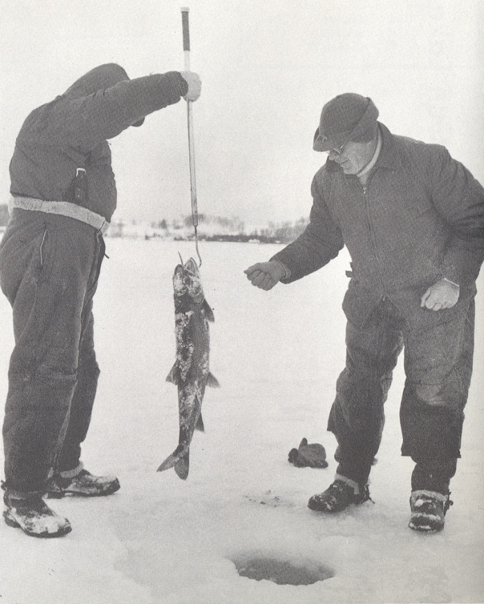 5) Ice fishing in the UP