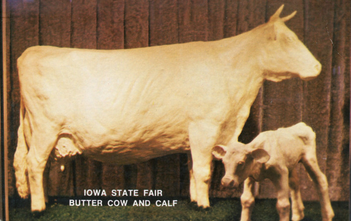 12. Every year, including 1960, Mrs. Lyons carves a 360-pound butter cow sculpture for the Iowa State Fair. Even in tough times, Iowans stick to traditions.