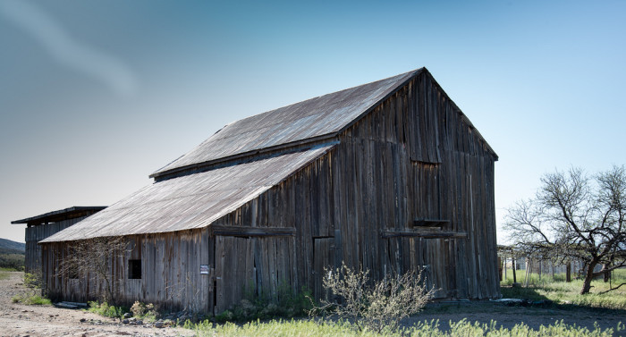10. I love how the wood has weathered on this barn. It has the appearance of sitting at Cordes Junction much longer than it probably has.