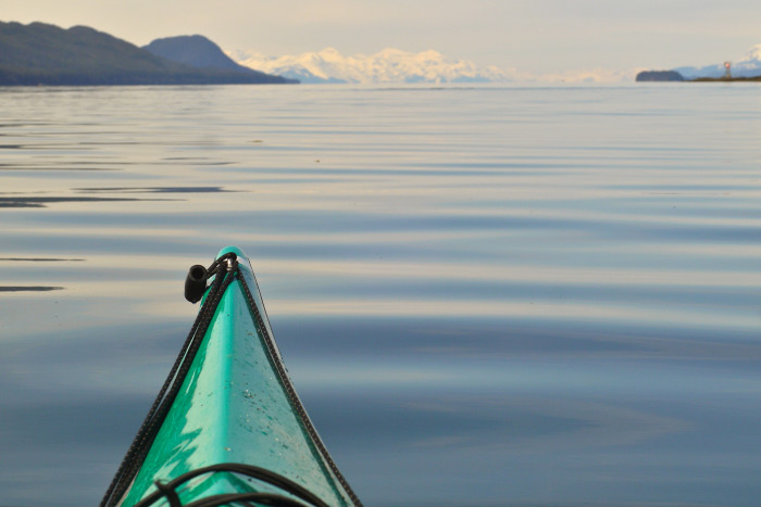 4) Rent or borrow a couple kayaks and take your potential spouse out on the water. There are some insane glacial views in Alaska and they will surely impress and delight your significant other.