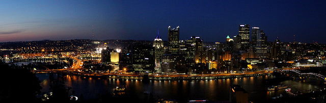 7. Pittsburgh at night is a sight to behold.